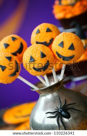 Halloween cake pops - stock photo