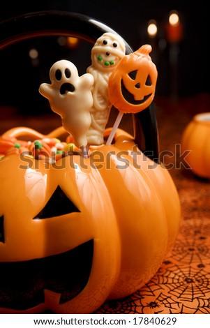 Halloween candies - stock photo