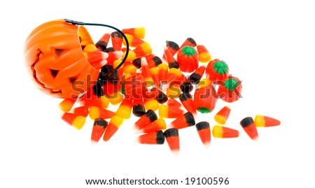 Halloween candies and holder - stock photo