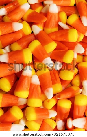 Halloween candies background vertical composition