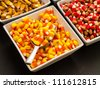 Halloween Candy Corn Buffet - stock photo