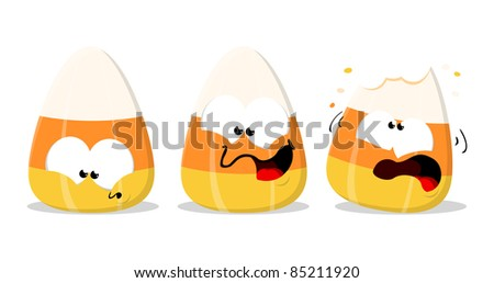 Halloween candy corn isolated illustration