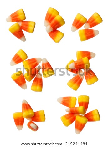 Halloween Candy Corns isolated on white background - stock photo
