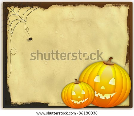Halloween card - stock photo