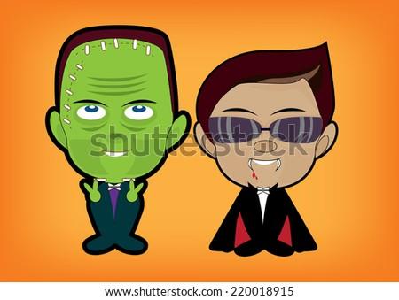 halloween cartoon - stock photo