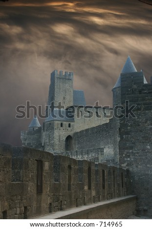 Halloween castle - stock photo