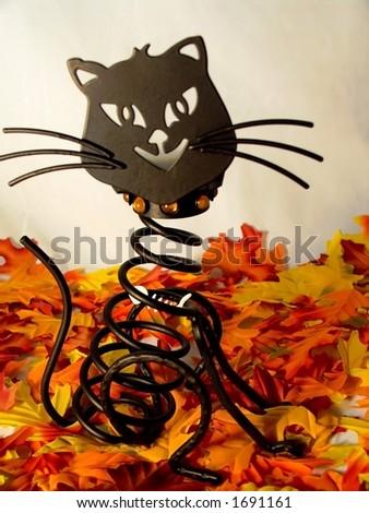 Halloween Cat - stock photo