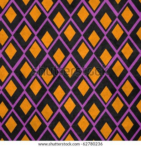Halloween Collection Diamond Pattern Texture Background - stock photo