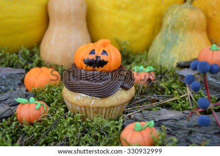 Halloween Composition. - stock photo