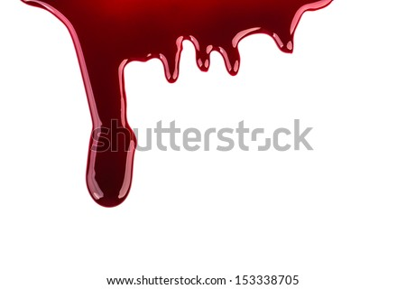 Halloween concept : Blood dripping - stock photo