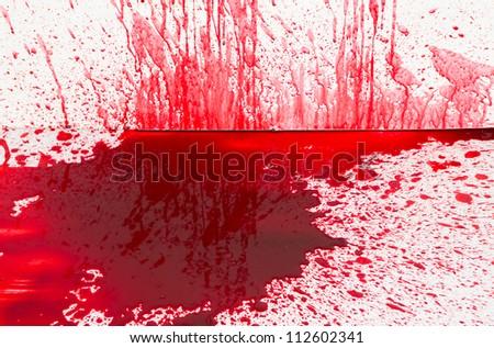 Halloween concept : Blood splatter - stock photo