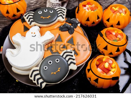 Halloween Cookies - stock photo