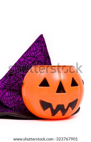 Halloween Costume on White / Halloween Costume / Halloween Costume Isolated on White Background - stock photo