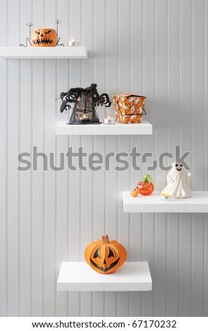 Halloween Decorations on Display - stock photo