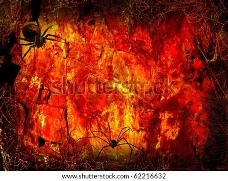 Halloween Fiery - stock photo