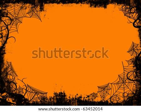 halloween frame - stock photo