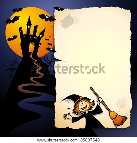 Halloween funny background - stock photo