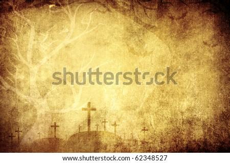 halloween grunge background - stock photo