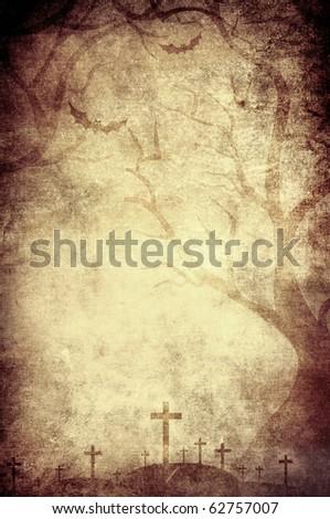 halloween grunge vertical background - stock photo
