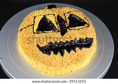 Halloween hot chocolate cake - stock photo