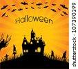 halloween invitation - stock photo