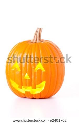 Halloween Jack O Lantern isolated on white background. - stock photo