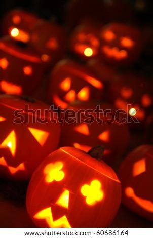 Halloween Lanterns - stock photo