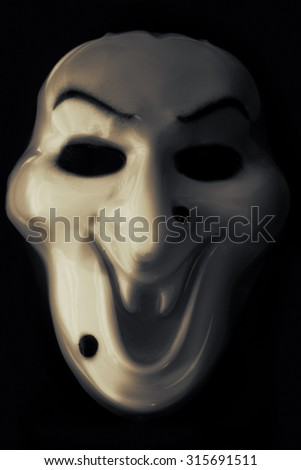 Halloween mask on a black background