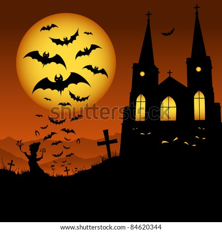 Halloween night - stock photo