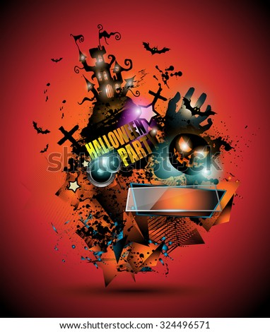 halloween night event flyer party template with space for text ideal for horror themed parties - Halloween Night Party