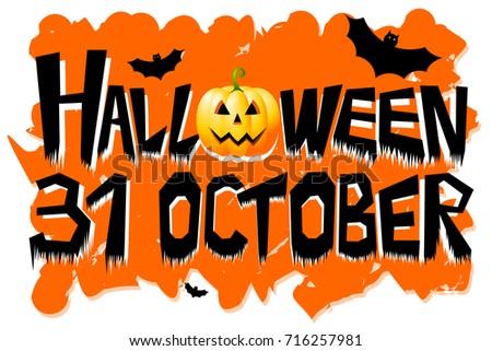 Halloween 31 October Stock Illustration 716257981 - Shutterstock