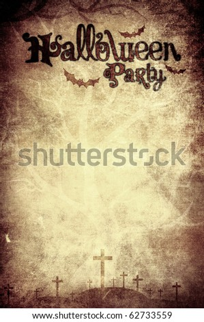 Halloween party background grunge style - stock photo