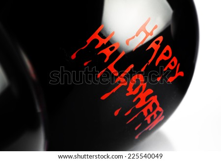 halloween party balloons - stock photo