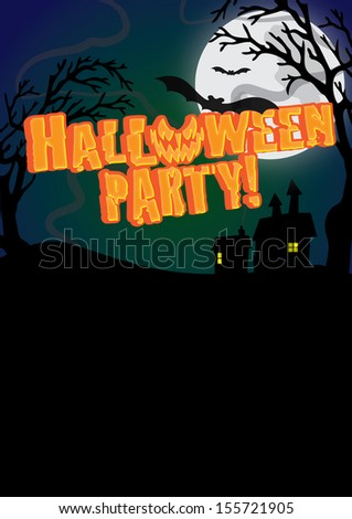 Halloween Party Poster - stock photo