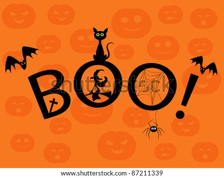 Halloween picture. Boo! - stock photo