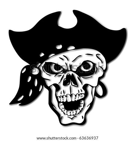 Pirates Logo Skull Halloween pirate skull - stock