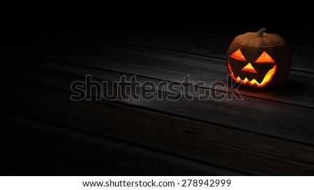 Halloween pumpkin background - wallpaper version - stock photo