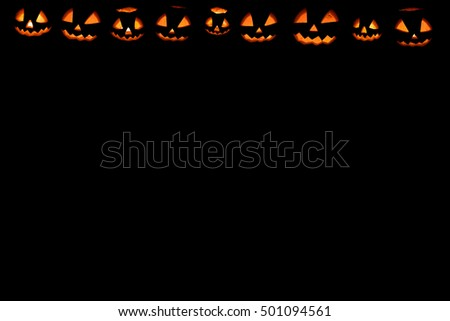 halloween pumpkin frame set head jack