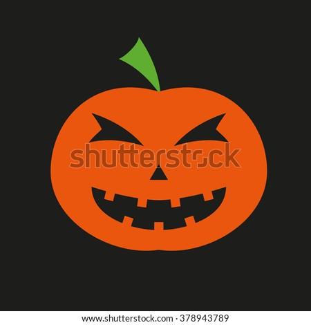 Halloween pumpkin icon. - stock photo