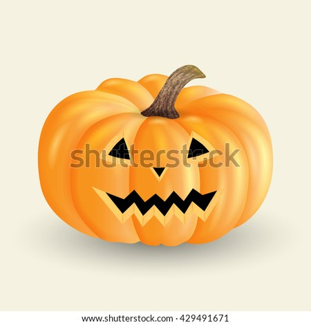 Halloween pumpkin isolated on a light background