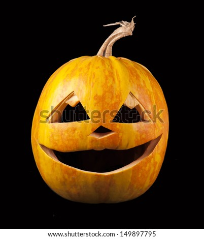 Halloween pumpkin isolated on  black background
