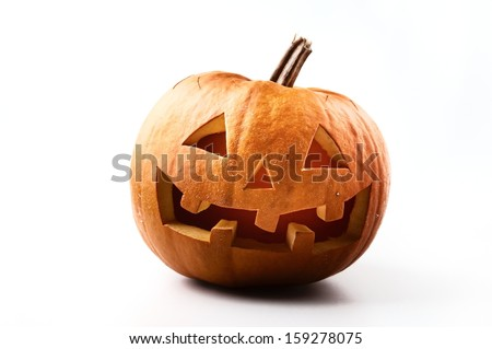 "Halloween Pumpkin ""Jack�´O Latern"" on white background"