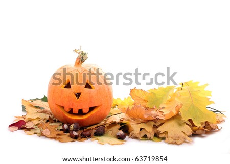 Halloween Pumpkin Lantern - stock photo
