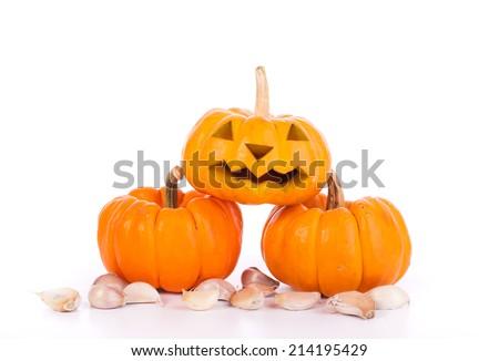halloween pumpkin  on white backgroud - stock photo