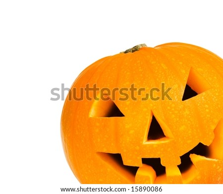 Halloween pumpkin with clipping path - stock photo
