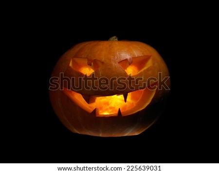 Halloween Pumpkin without deep shadows - stock photo