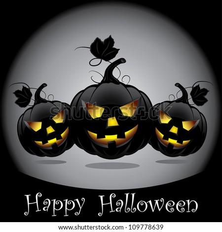 Halloween pumpkins. - stock photo