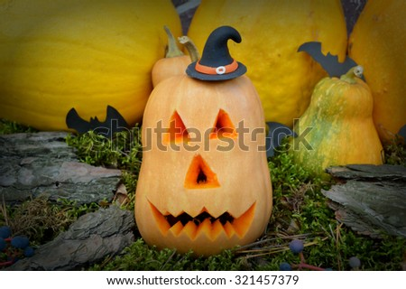 Halloween pumpkins - stock photo