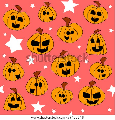 Halloween seamless pattern (vector available)
