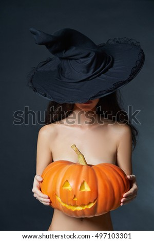 naked women in witch hats